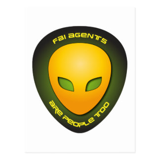 FBI Agents Are People Too Postcard