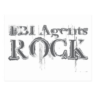 FBI Agents Rock Postcard
