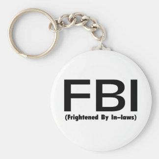 FBI asustado cerca en leyes Llavero Personalizado