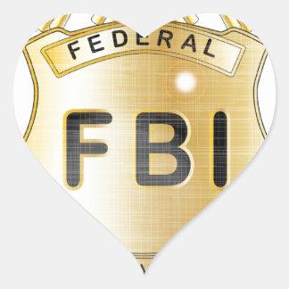 FBI Badge Heart Sticker