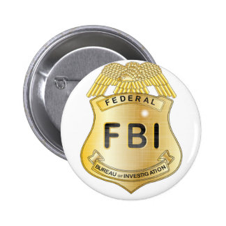 FBI Badge Pinback Button
