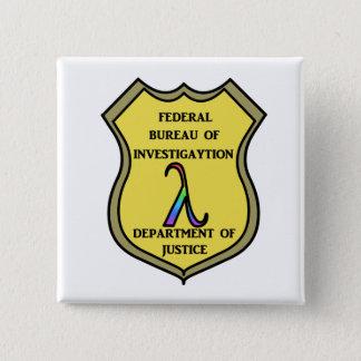 FBI Badge Pinback Button
