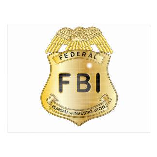 FBI Badge Postcard