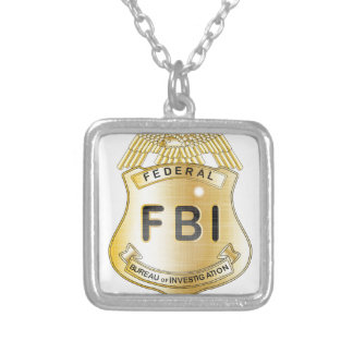 FBI Badge Silver Plated Necklace