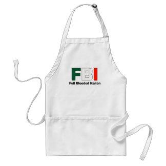 FBI Blooded lleno Aparon de cocinar italiano Delantal