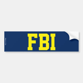FBI Bumper Sticker