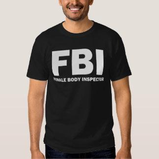 FBI: Camiseta del inspector del cuerpo femenino Playeras