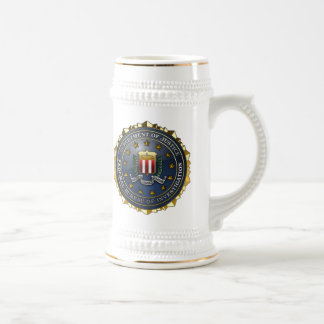FBI Emblem Beer Stein