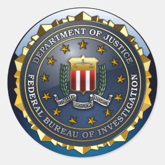 FBI Emblem Classic Round Sticker