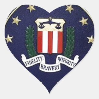 FBI Emblem Heart Sticker