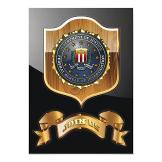 FBI Emblem Custom Invitation