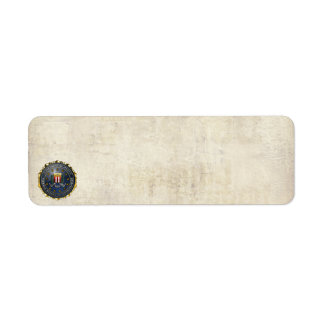 FBI Emblem Return Address Labels
