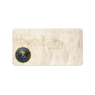FBI Emblem Personalized Address Labels