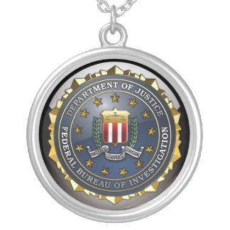 FBI Emblem Round Pendant Necklace
