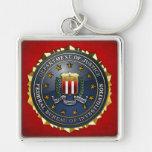 FBI Emblem Silver-Colored Square Keychain