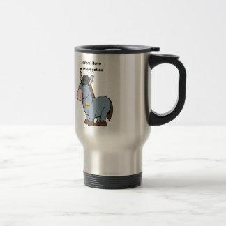 FBI Federal Burro of Investigation Donkey Cartoon Travel Mug