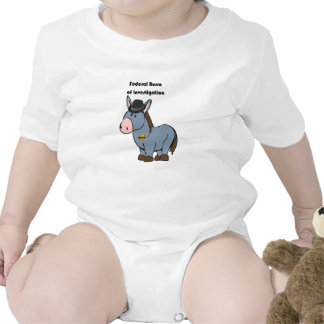 FBI Federal Burro of Investigation Donkey Cartoon Bodysuit