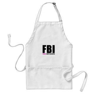 FBI Female Body Inspector Adult Apron