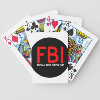 FBI Female Body Inspector Bicycle Playing Cards