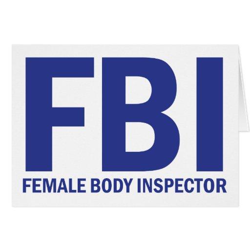 FBI Female Body Inspector - Blue Greeting Card