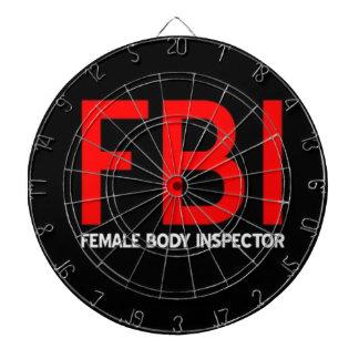 FBI Female Body Inspector Dartboard With Darts