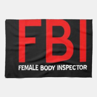 FBI Female Body Inspector Hand Towel
