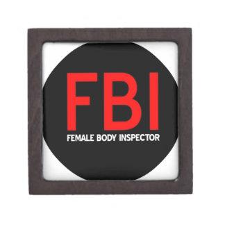 FBI Female Body Inspector Jewelry Box