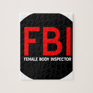 FBI Female Body Inspector Jigsaw Puzzle