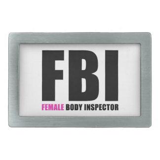 FBI Female Body Inspector Rectangular Belt Buckle