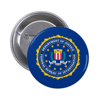 FBI Flag Pinback Button