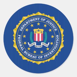 FBI Flag Classic Round Sticker