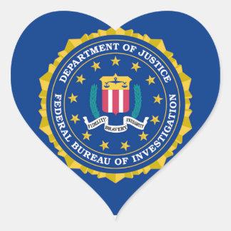 FBI Flag Heart Sticker