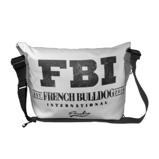 FBI FRENCH BULLDOG INT. COURIER BAG
