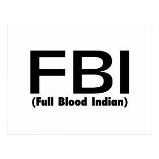 FBI Full Blooded Indian Postcard