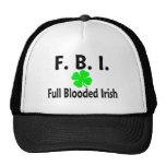 FBI Full Blooded Irish Clover Hats