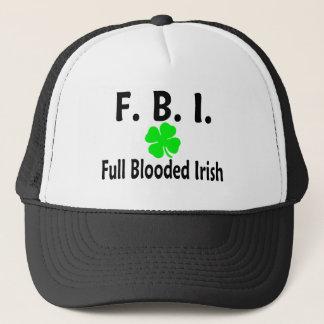 FBI Full Blooded Irish Clover Trucker Hat