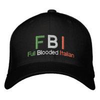 FBI Full Blooded Italian Black Baseball Cap