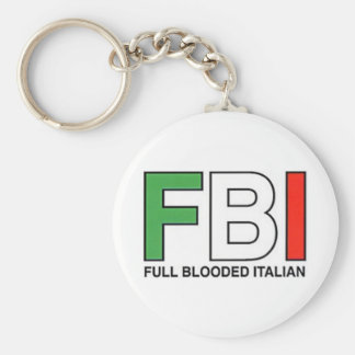FBI = Full Blooded Italian Keychain