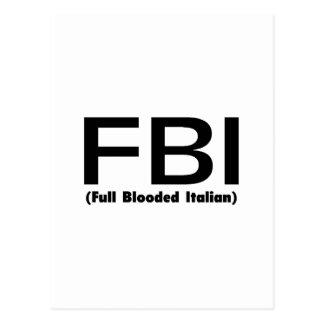 FBI Full Blooded Italian Postcard