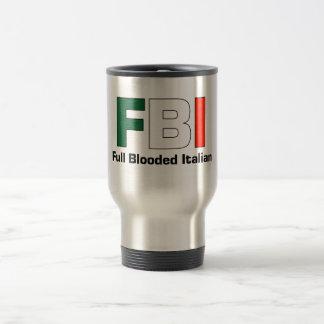 FBI Full Blooded Italian Travel/Commuter Mug