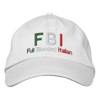 FBI Full Blooded Italian White Baseball Cap