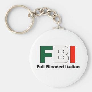 FBI Full Blooded Italian White Key Chain