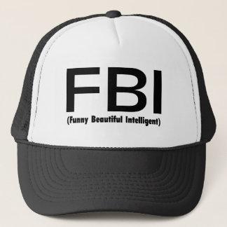 FBI Funny Beautiful Intelligent Trucker Hat