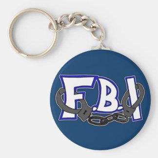 FBI Handcuffs Basic Round Button Keychain