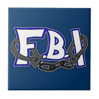 FBI Handcuffs Ceramic Tile