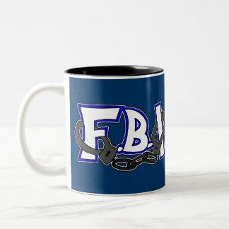 FBI Handcuffs Two-Tone Coffee Mug