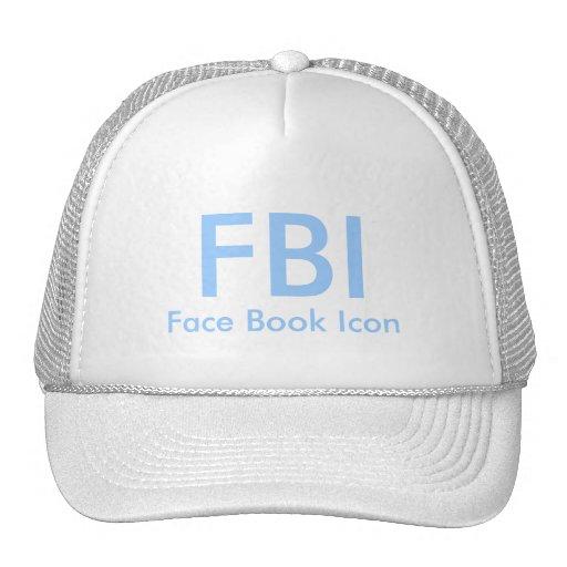 FBI, icono del libro de la cara Gorro De Camionero