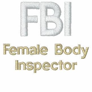 FBI, inspector del cuerpo femenino Sudadera Bordada Con Capucha