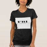 FBI. inspector del cuerpo femenino Camisetas