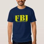 FBI - Inspector del cuerpo femenino Playeras